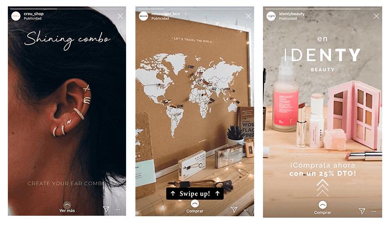 ejemplo stories ads publicidad en Instagram